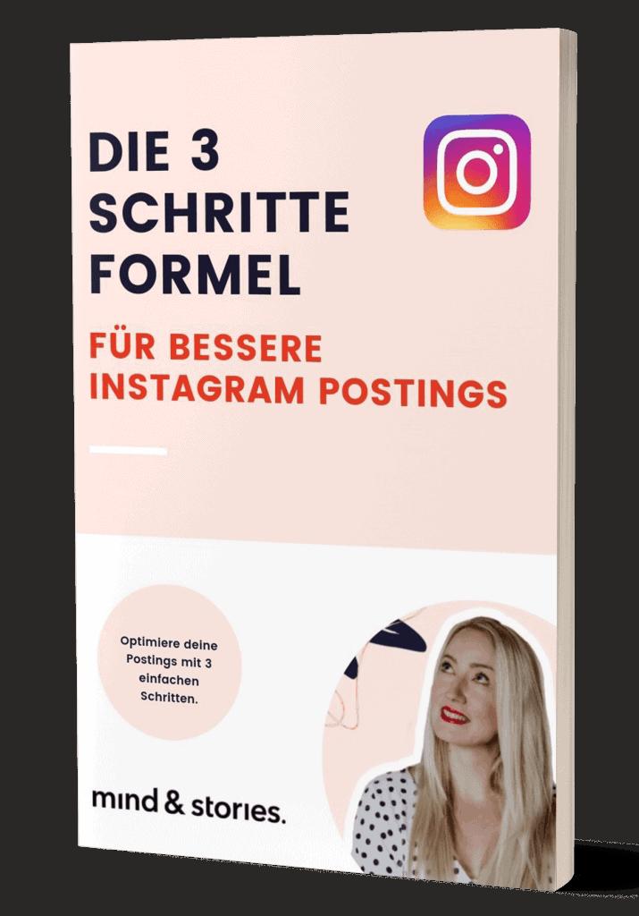 Freebie: Die 3 Schritte Formel für bessere Instagram Postings