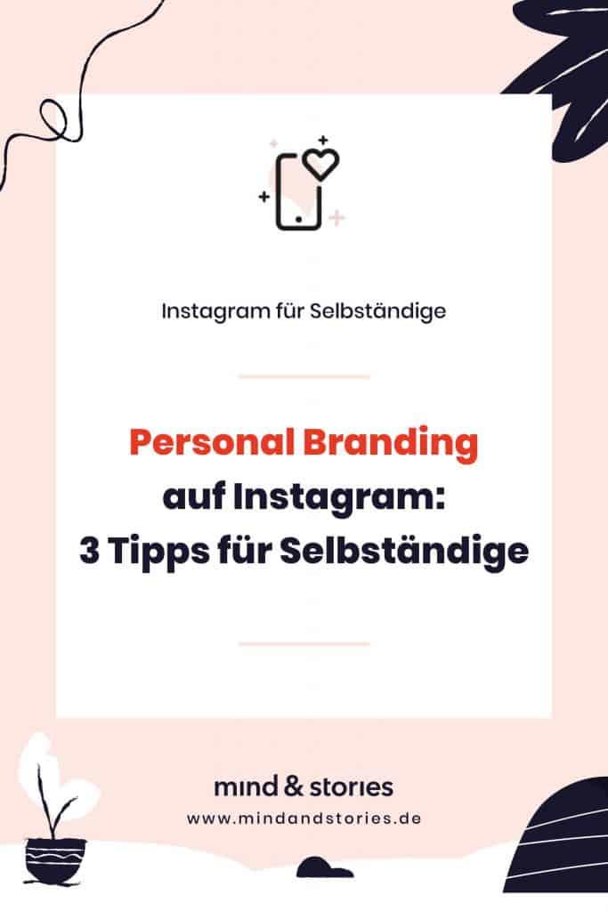 Pinterest Pin: Personal Branding auf Instagram für Selbständige und kleine Unternehmen