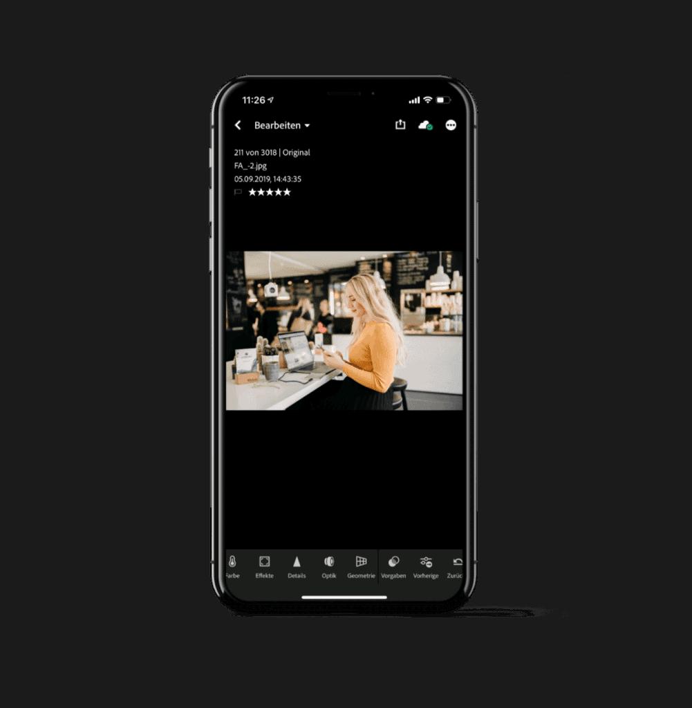 Apps für Instagram: Lightroom für professionelle Bildbearbeitung