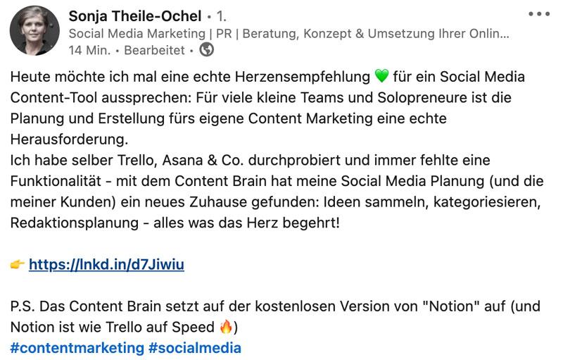 Digital Content Brain Feedback Text von Sonja Teile-Ochel